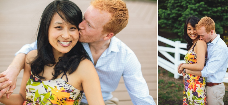 Lincoln Park Zoo nature boardwalk engagement photo