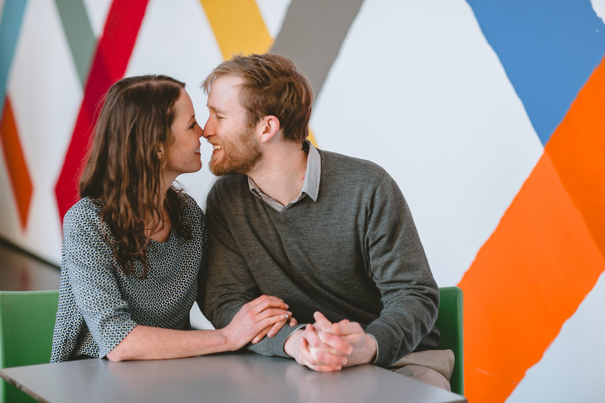 Indoor Chicago engagement photography