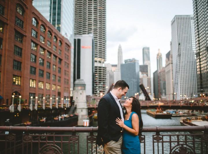 Chicago Riverwalk Engagement :: Ariel & John